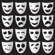 Theatre masks — Stockvectorbeeld
