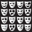 Stock Vector: Theatre masks