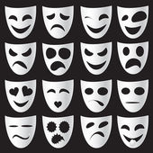 Theater maskers — Stockvector