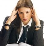 Terrible headache — Stock Photo
