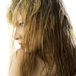 湿漉漉的头发 — 图库照片