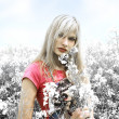 Blond girl desaturate color — Stock Photo #4701513