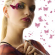 The butterfly makeup — Foto Stock