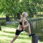 Stretch body — Stock Photo