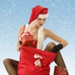 Looking christmas beg — Stock Photo