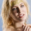 The golden woman — Stock Photo