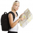 Young blond tourist — Stock Photo