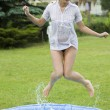 Jumping girl — Foto Stock