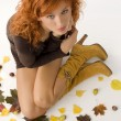 Stock Photo: The fall girl from top