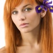Red haired purple flower — Stock Photo #4702531