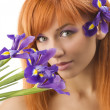 Yellow purple flower — Stock Photo