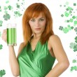 Foto Stock: Saint patrick girl
