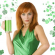 Saint patrick girl — Stock Photo