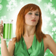 Green girl — Stock Photo