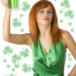 Royalty-Free Stock Photo: Saint patrick red hair