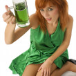 Green girl - Foto Stock