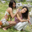 Two girl friend — Stock Photo
