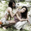 Foto Stock: Two girl friend