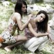 due ragazza amico — Foto Stock