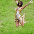 Stock Photo: Jumping on grass