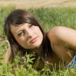 Nice girl in field — Stock Photo #4702856