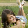 Girl and grass — Stock Photo #4702860
