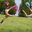 Jumping color — Stock Photo