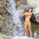 Shower and waterfall — Stock Photo