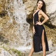 Stock Photo: Brunette in waterfall
