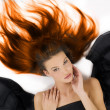 Burning hair — Stock Photo
