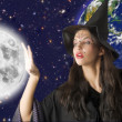 The moon and witch — Stock Photo #4703139