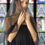 Black veil — Stock Photo