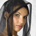 Portrait with veil — Stock Photo