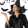 Witch and bat — Stock Photo #4703218