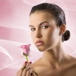 chica con rose — Foto de Stock