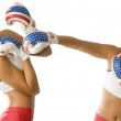 Punching twins woman — Stock Photo #4703929