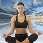 Girl in yoga pose — Stock Photo #4703967