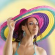 Summer girl with sombrero — Stock Photo #4704281