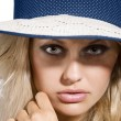 Hat summer portrait — Stock Photo