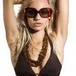 Sexy woman with sunglasses — Foto de Stock