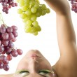 The green grape — Stock Photo