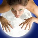 Mad woman moon — Stock Photo