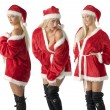 Three santa claus — Stock Photo