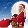 Santa claus sitting — Stock Photo