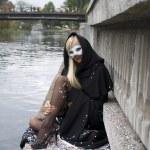 Venice style mask — Stock Photo