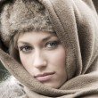 Woman with scarf — Stock Photo #4705706