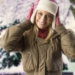 Girl with winter dress — Stock Photo