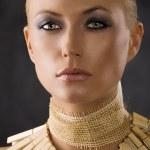 Close up of amazon woman — Stock Photo