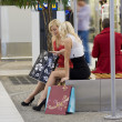 Sitting after shopping — Foto de Stock