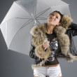 Under umbrella — Stock Photo #4706876